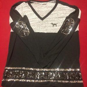 PINK Victoria Secret Long Sleeve (Sequins & Bling)